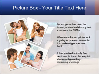 Young couple waching tv PowerPoint Template - Slide 23