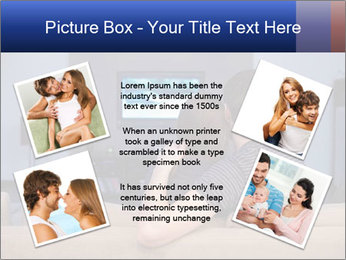 Young couple waching tv PowerPoint Template - Slide 24