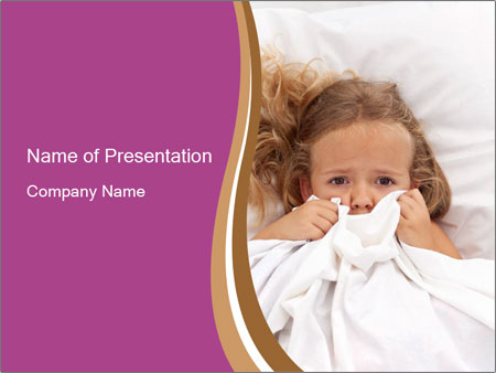 Little girl having childhood PowerPoint Template