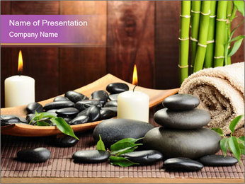 Aromatic Candles PowerPoint Template - Slide 1