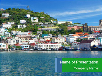Beautiful Harbor PowerPoint Template - Slide 1
