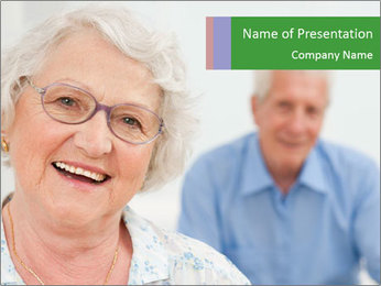 Smiling Retired Couple PowerPoint Template - Slide 1