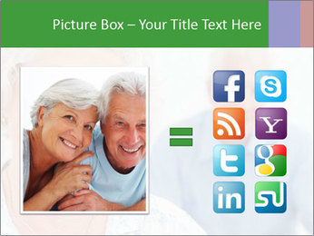 Smiling Retired Couple PowerPoint Template - Slide 21