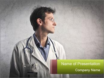 Doctor's Portrait PowerPoint Templates - Slide 1