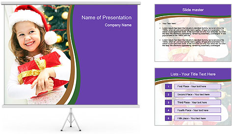 Santa Girl PowerPoint Template