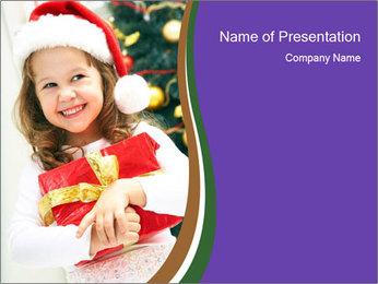 Santa Girl PowerPoint Template - Slide 1