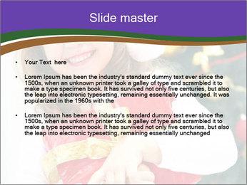Santa Girl PowerPoint Template - Slide 2
