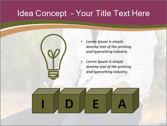 Young Man Writes Letter PowerPoint Templates - Slide 80
