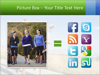 Two Women Jogging Together PowerPoint Template - Slide 21