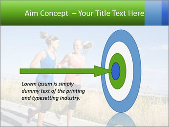 Two Women Jogging Together PowerPoint Template - Slide 83