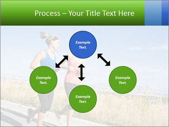 Two Women Jogging Together PowerPoint Template - Slide 91