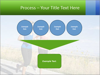 Two Women Jogging Together PowerPoint Template - Slide 93