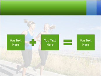 Two Women Jogging Together PowerPoint Template - Slide 95