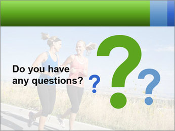 Two Women Jogging Together PowerPoint Template - Slide 96