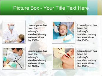 Woman Examines Her Teeth PowerPoint Template - Slide 14