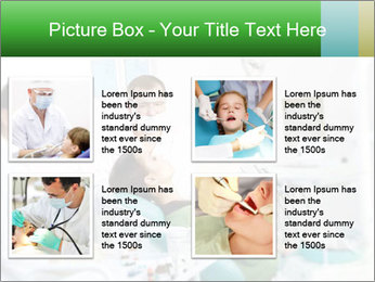 Woman Examines Her Teeth PowerPoint Templates - Slide 14