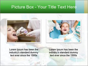 Woman Examines Her Teeth PowerPoint Template - Slide 18