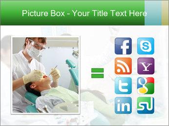 Woman Examines Her Teeth PowerPoint Template - Slide 21