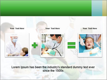 Woman Examines Her Teeth PowerPoint Template - Slide 22