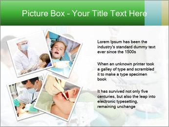 Woman Examines Her Teeth PowerPoint Template - Slide 23