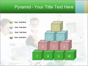 Woman Examines Her Teeth PowerPoint Template - Slide 31