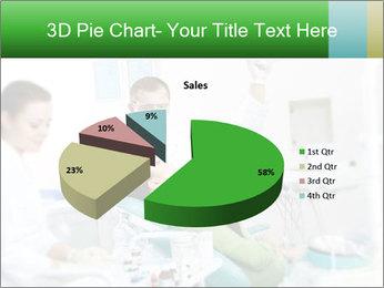 Woman Examines Her Teeth PowerPoint Template - Slide 35