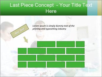 Woman Examines Her Teeth PowerPoint Template - Slide 46