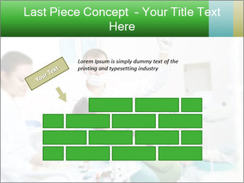 Woman Examines Her Teeth PowerPoint Templates - Slide 46