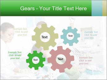 Woman Examines Her Teeth PowerPoint Templates - Slide 47