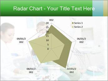 Woman Examines Her Teeth PowerPoint Template - Slide 51