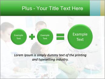 Woman Examines Her Teeth PowerPoint Template - Slide 75