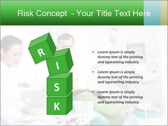 Woman Examines Her Teeth PowerPoint Template - Slide 81
