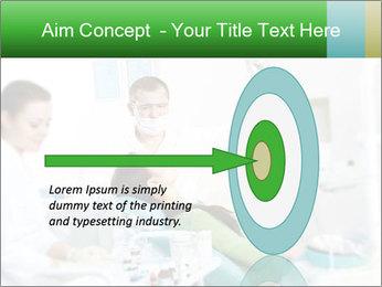 Woman Examines Her Teeth PowerPoint Template - Slide 83