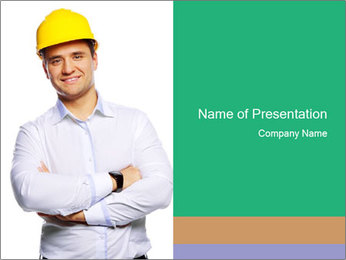 Handsome Constructor PowerPoint Template - Slide 1