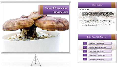 Chinese Mushroom PowerPoint Template