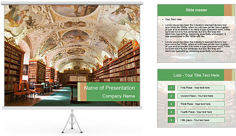 Antique Library PowerPoint Template
