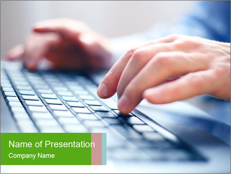Fast Computer Typing PowerPoint Template