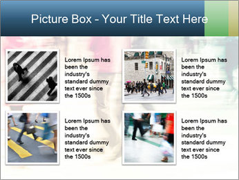 Many People In Motion PowerPoint Template - Slide 14