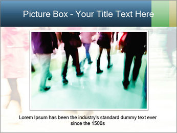 Many People In Motion PowerPoint Template - Slide 15