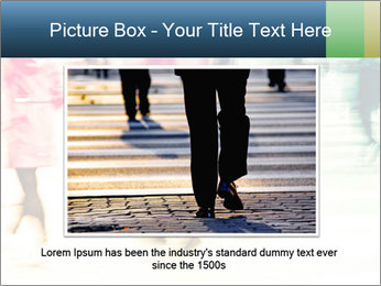 Many People In Motion PowerPoint Template - Slide 16