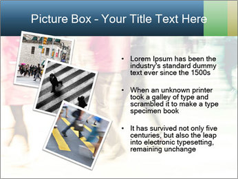 Many People In Motion PowerPoint Template - Slide 17