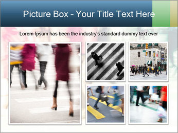 Many People In Motion PowerPoint Template - Slide 19