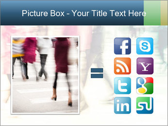 Many People In Motion PowerPoint Template - Slide 21