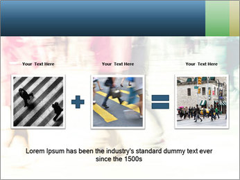Many People In Motion PowerPoint Template - Slide 22