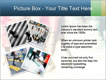 Many People In Motion PowerPoint Template - Slide 23