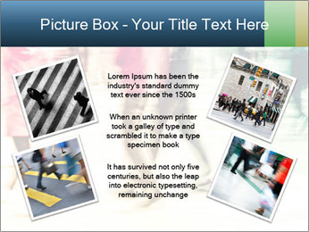 Many People In Motion PowerPoint Template - Slide 24