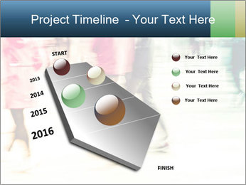Many People In Motion PowerPoint Template - Slide 26