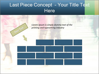Many People In Motion PowerPoint Template - Slide 46