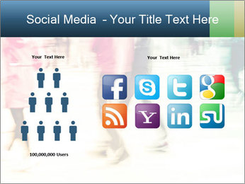 Many People In Motion PowerPoint Template - Slide 5