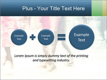 Many People In Motion PowerPoint Template - Slide 75